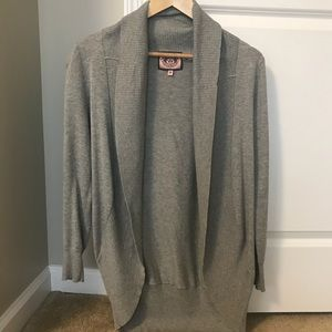 Juicy Couture Gray Heather Long Sweater Cardigan